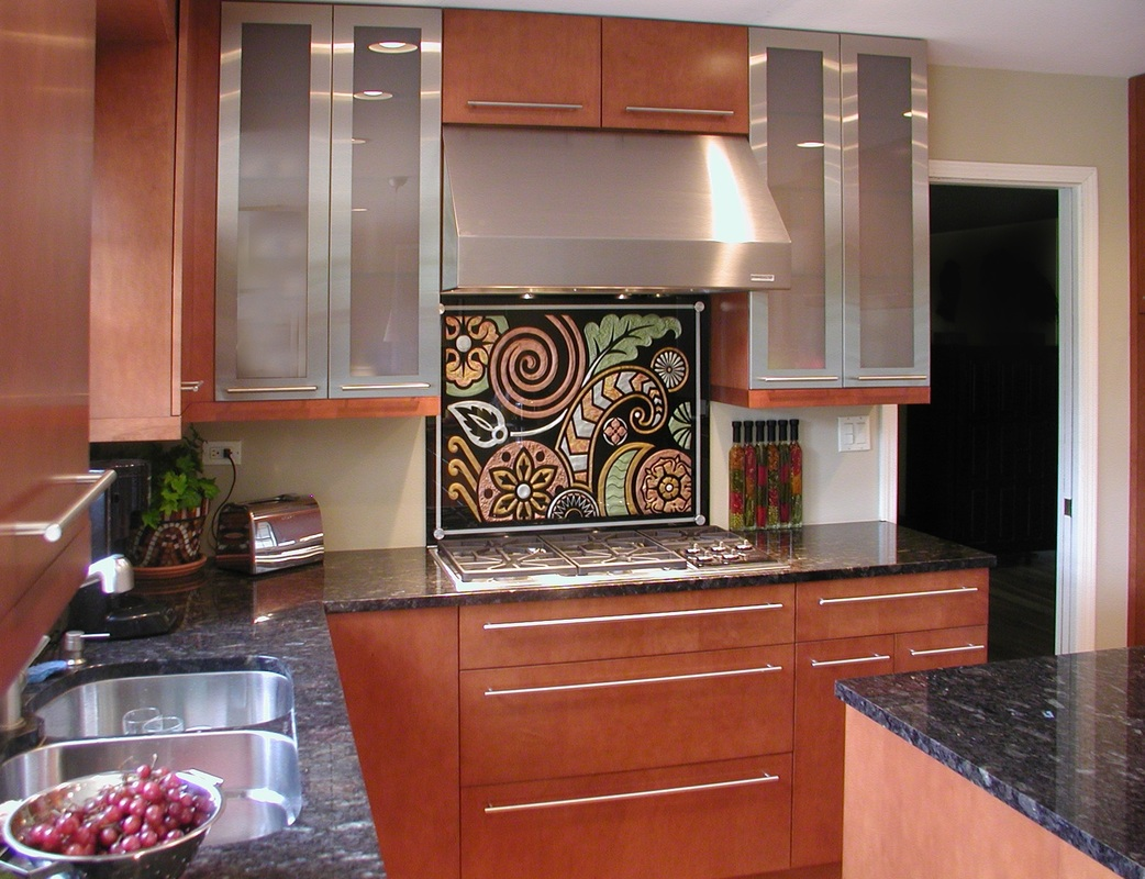 - Reverse Painted Glass Backsplash 815-922-0959 - Illumination Art